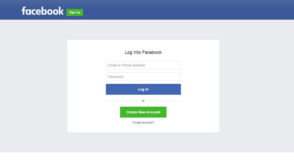 facebook-login-page