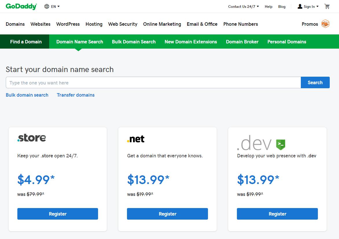 godaddy-domain-search