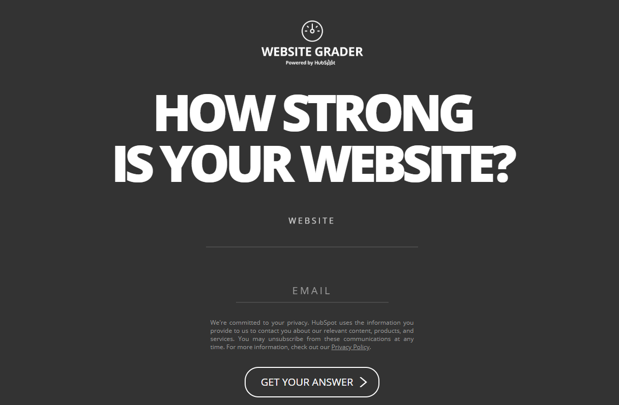 hubspot-website-grader