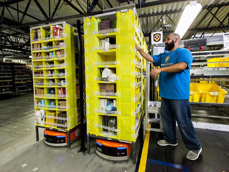 Amazon employee picking