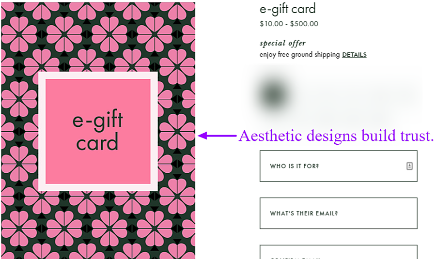 Kate Space e-gift card