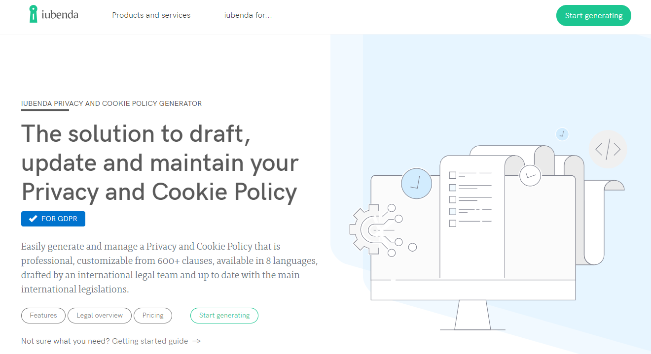 5 Requirements For Gdpr And The Best Privacy Policy Generators To