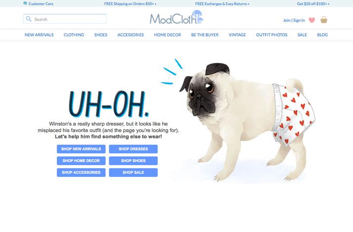 modcloth 404