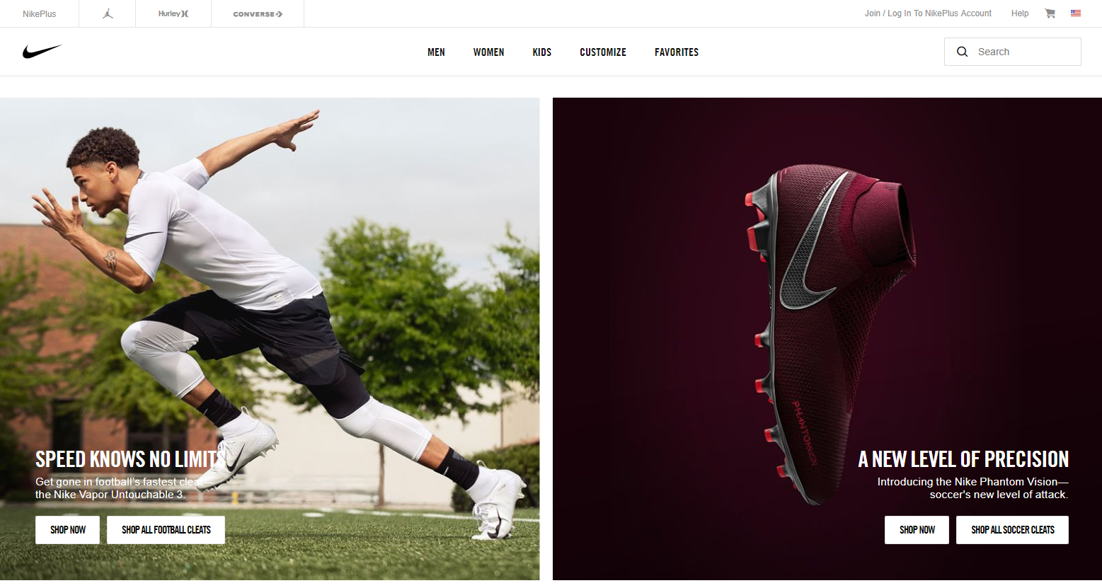 nike-home-page-scroll