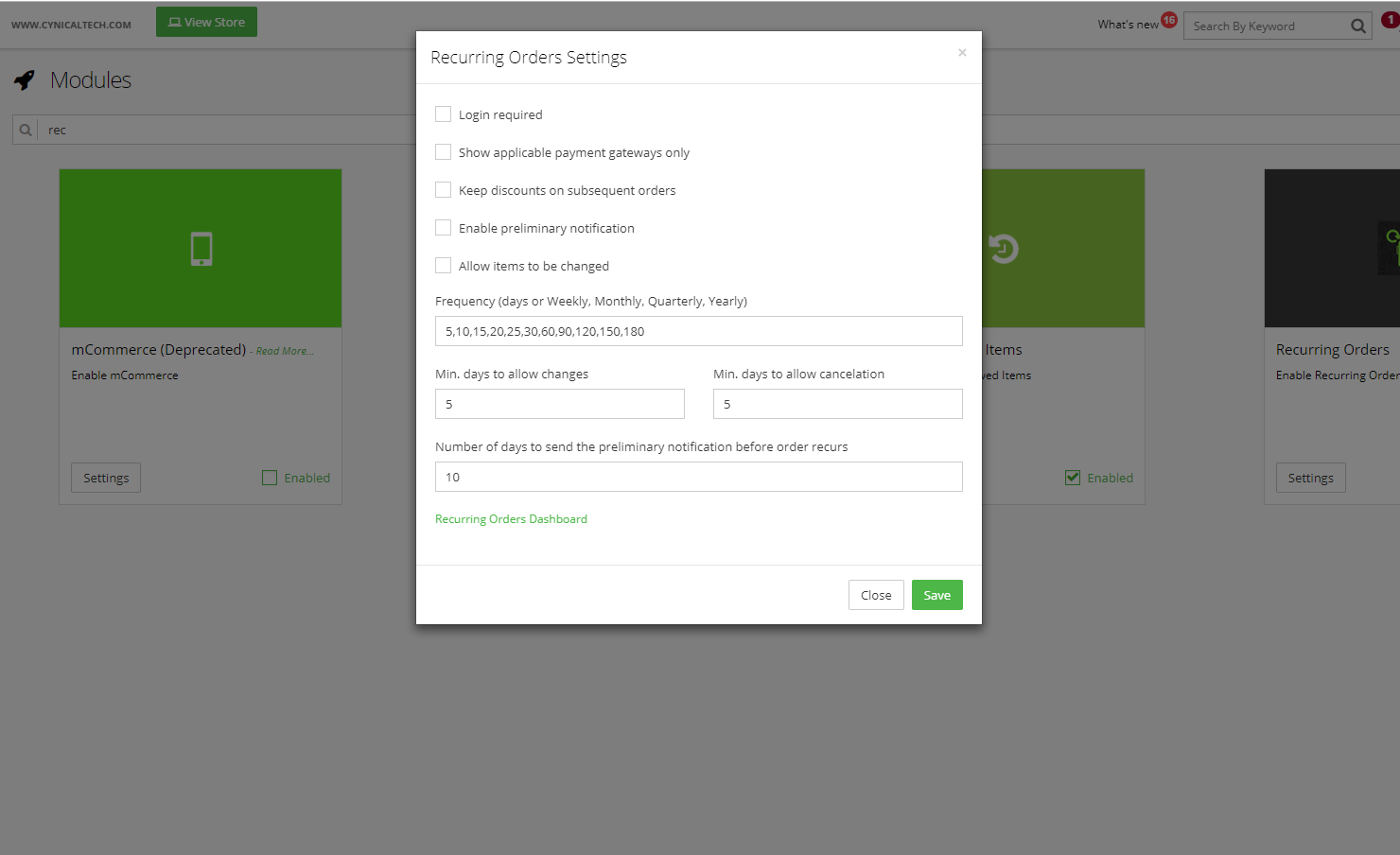 recurring-orders-settings