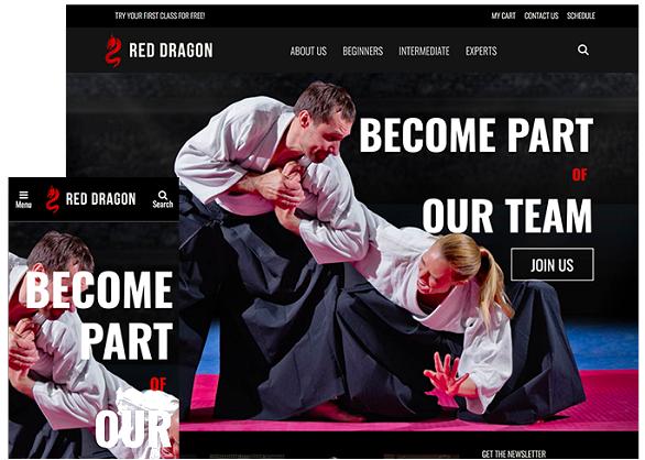 mma website template