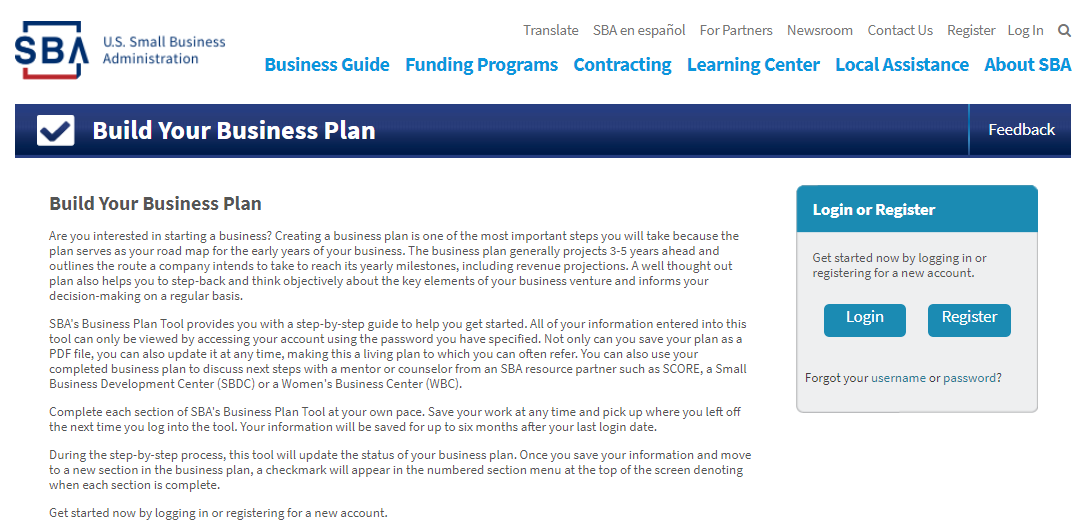 business plan template for small business