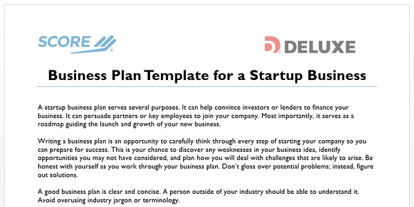 How to write a business plan for your online business business plan template for startups fbccfo Gallery