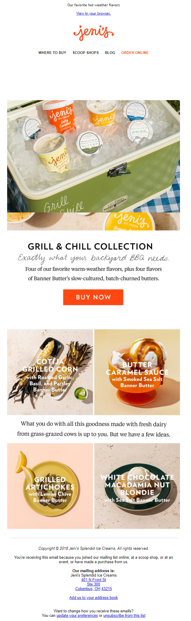 Jeni's Curated Email