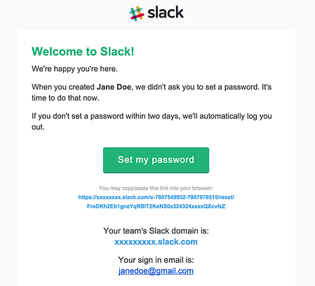 slack email