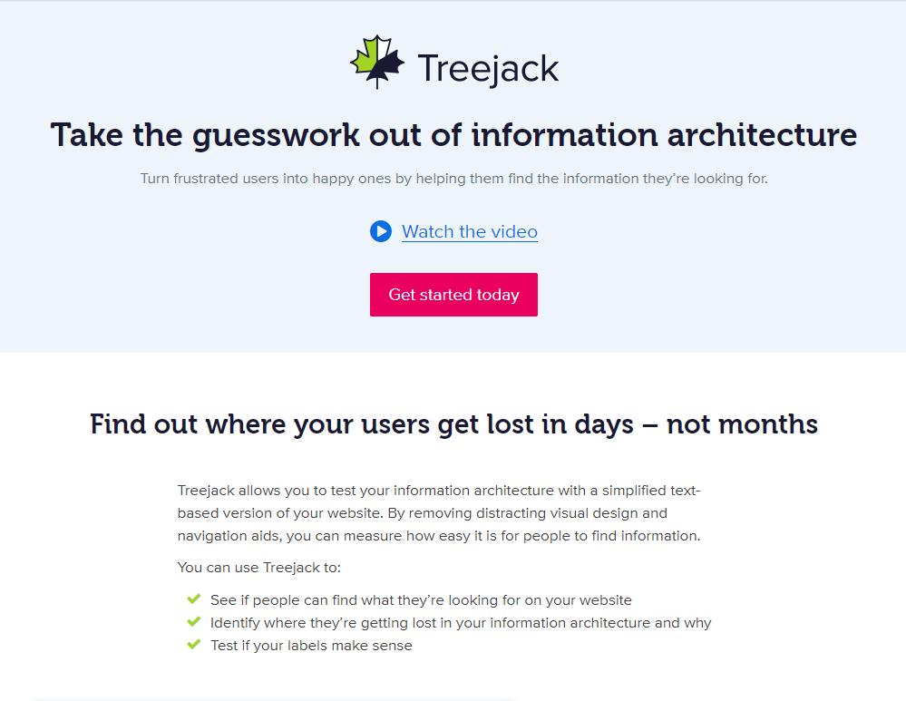 treejack-website-testing