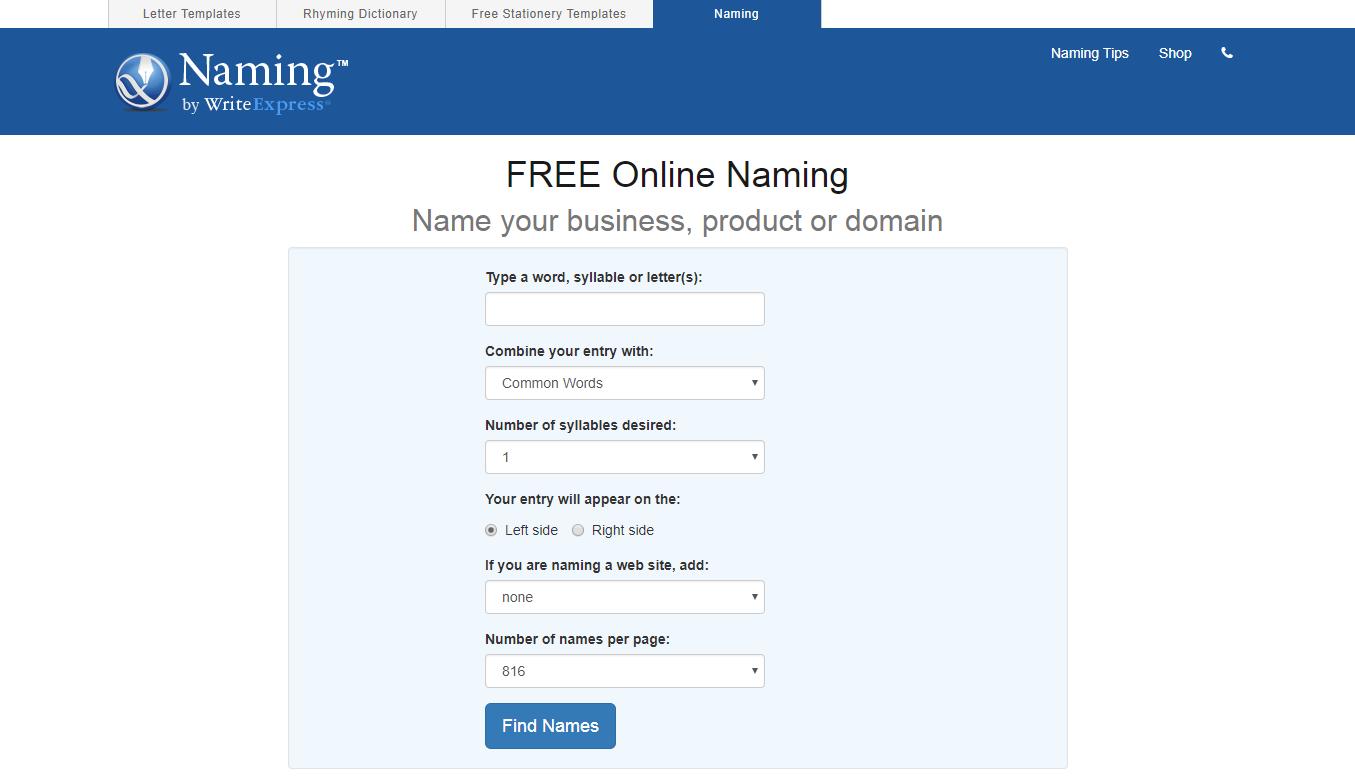writeexpress-free-online-naming