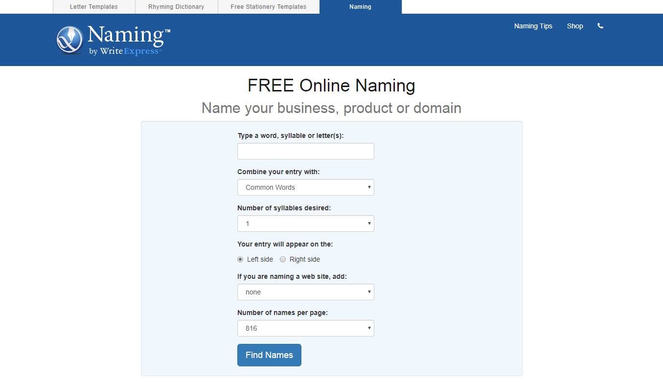 10 Writeexpress Free Online Naming