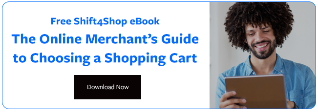 "Get the Free Ebook  ""The Merchant's Guide to Choosing a Shopping Cart"""