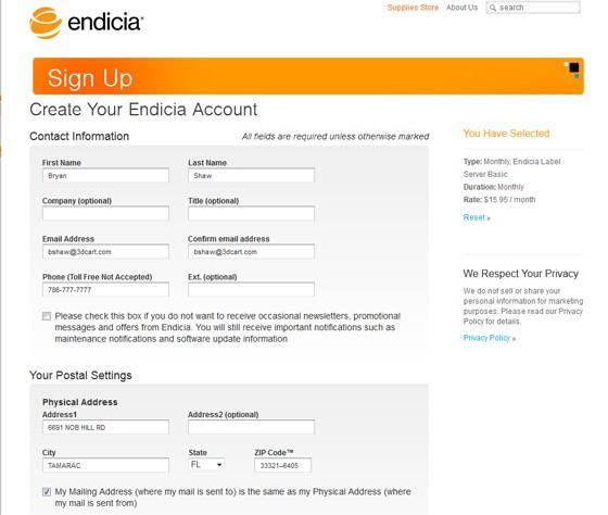 Endicia5