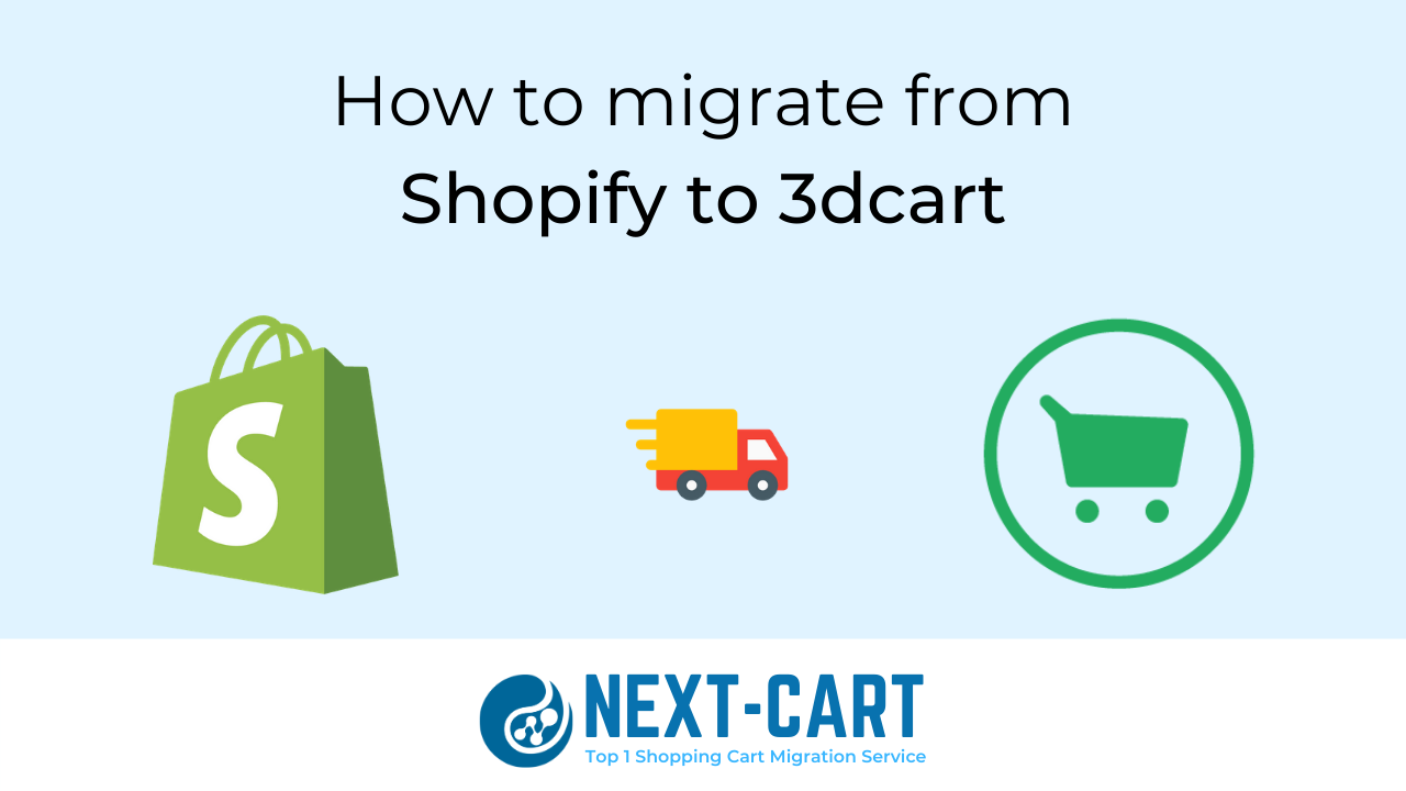 How to migrate from Shopify to 3dcart with Next-Cart