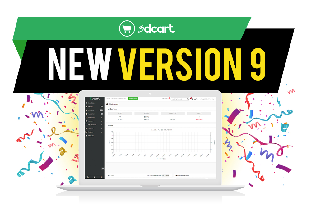 3dcart Version 9 Brings New eCommerce Features to Online Stores
